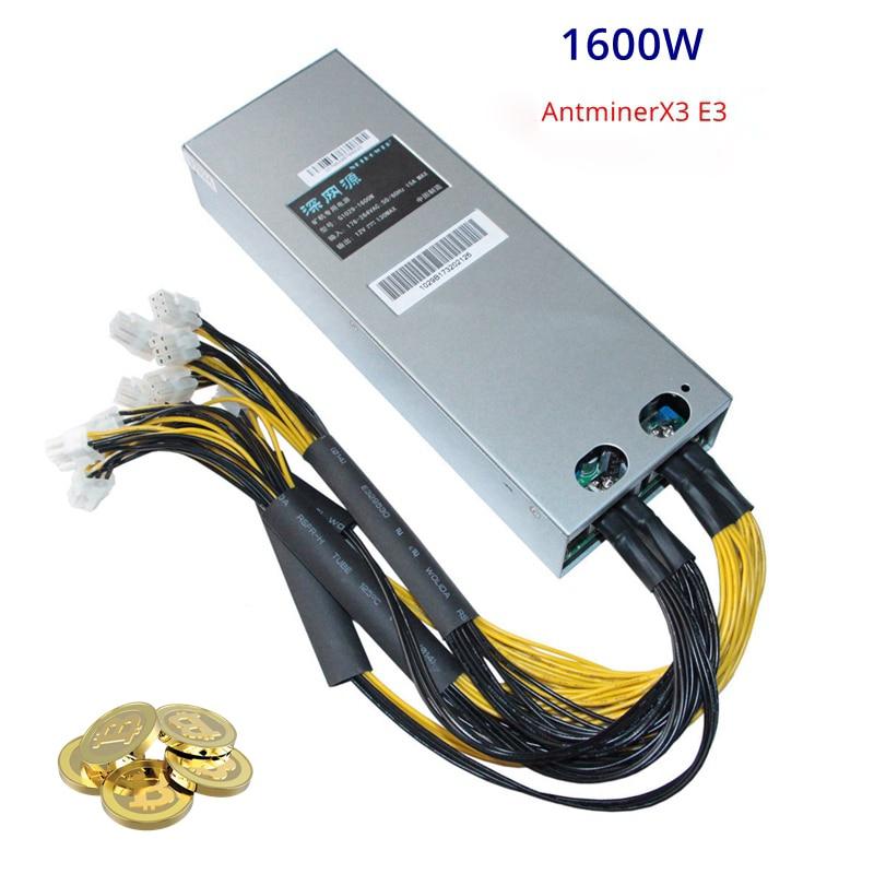 PSU Mining Power Supply For Bitcoin BTC Antminer S7 S9 L3 D3 US 1600W BTC APW3+