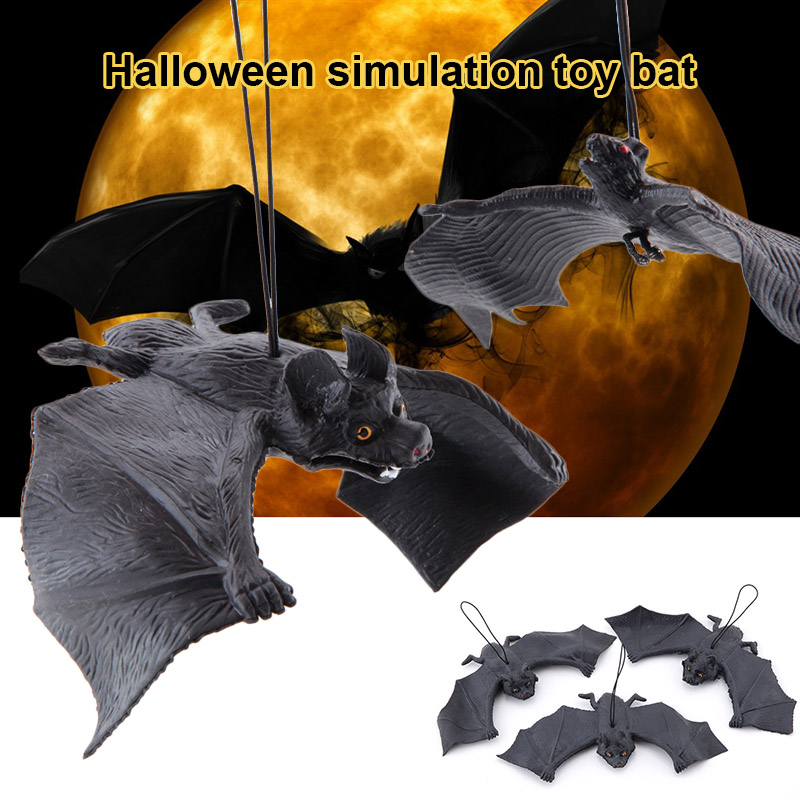 Simulation Bat Artificial Funny Pendant Rubber For Halloween Haunted House Fool's Day NSV775