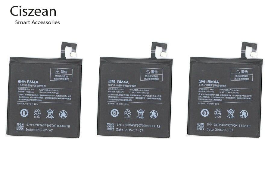 Ciszean Replacement-Battery Batterie Accumulator BM4A Xiaomi Redmi 4000mah For Pro 3PCS