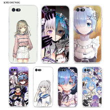 Transparent Soft Silicone Phone Case Anime ReZERO In Another World for iPhone XS X XR Max 8 7 6 6S Plus 5 5S SE