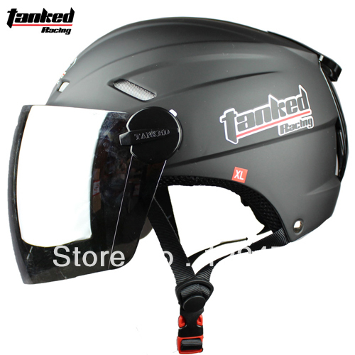 Free shipping!!! Tanked Racing motorcycle helmet summer helmet Electric Bicycle half face helmet T501 Color-Matte Black