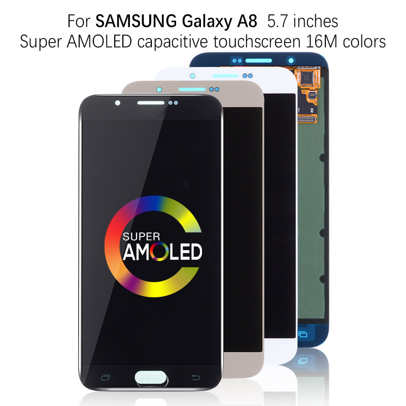 Super AMOLED 5.7'' LCD For <font><b>SAMSUNG</b></font> GALAXY A8 LCD Display Touch Screen Digitizer Assembly For <font><b>SAMSUNG</b></font> A8 A800 <font><b>A8000</b></font> A800F LCD image