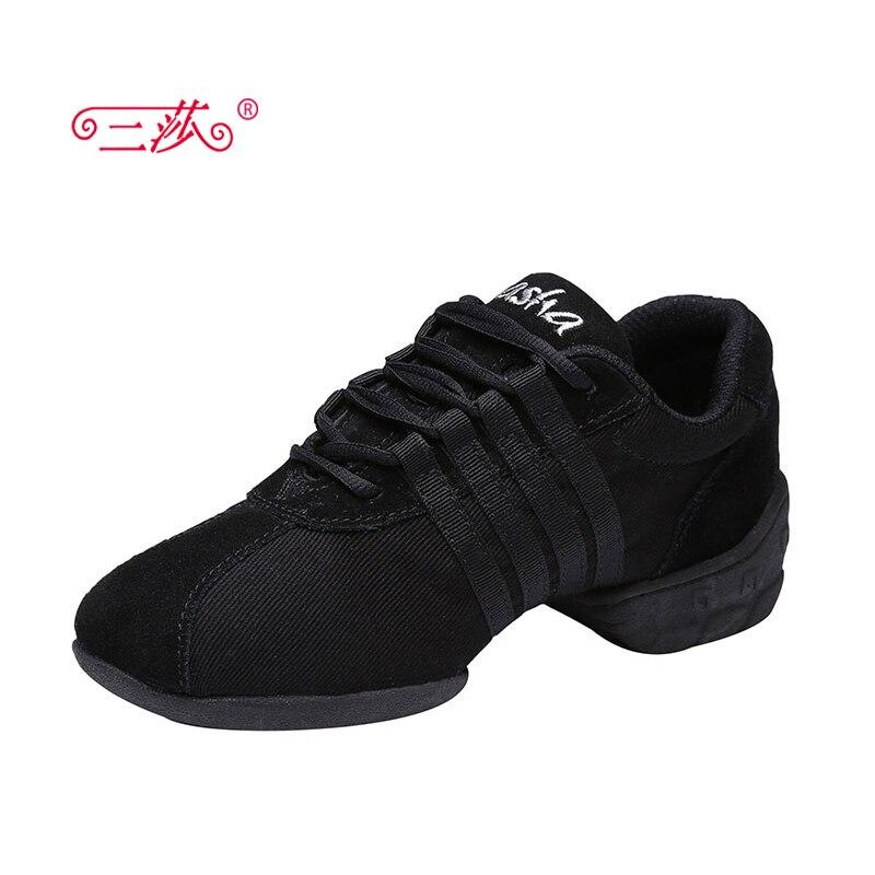 sasha nők canvans bőr Jazz szakosodott a pop tánc cipők cipő női sport tánc cipő négy szín tanár cipőT01