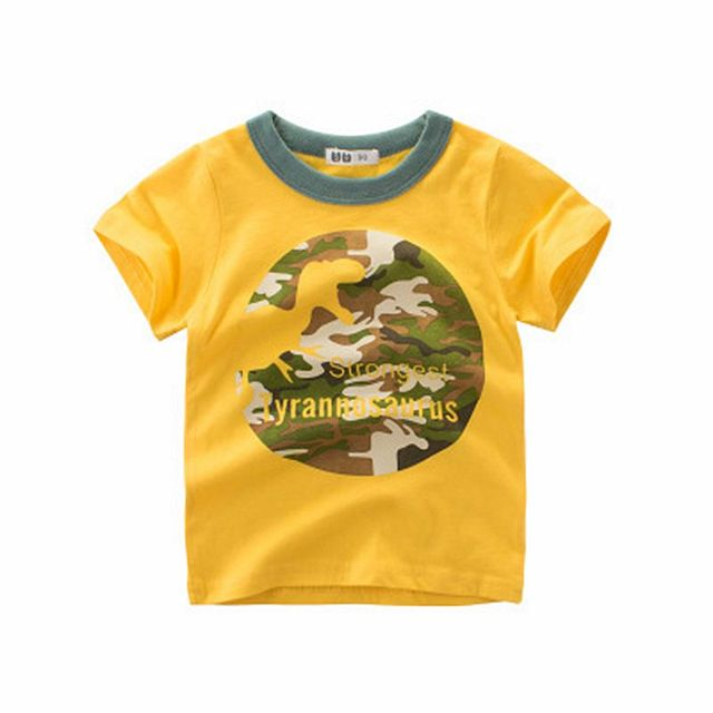 Loozykit  Dinosaur Short Sleeve T-shirt Kid Boy Casual Sport T-shirt 2-10Y Shirt