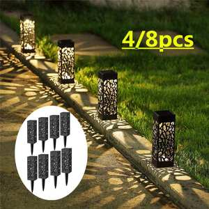 2/4/8 Piece LED Solar Garden L