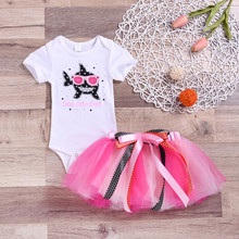 62dad5029c TELOTUNY Kids Outfits&Set Cotton 2019 New Toddler Baby Kid Girls Short  Sleeve Shark Print Romper+