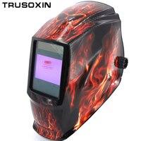 Rechangeable Battery 4 Arc Sensor Solar Auto Darkening Shading Grinding Polish Welding Helmet Welder Goggles Mask