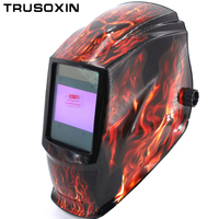 Rechangeable Battery 4 Arc Sensor Solar Auto Darkening Shading Grinding Polish Welding Helmet Welder Goggles Mask