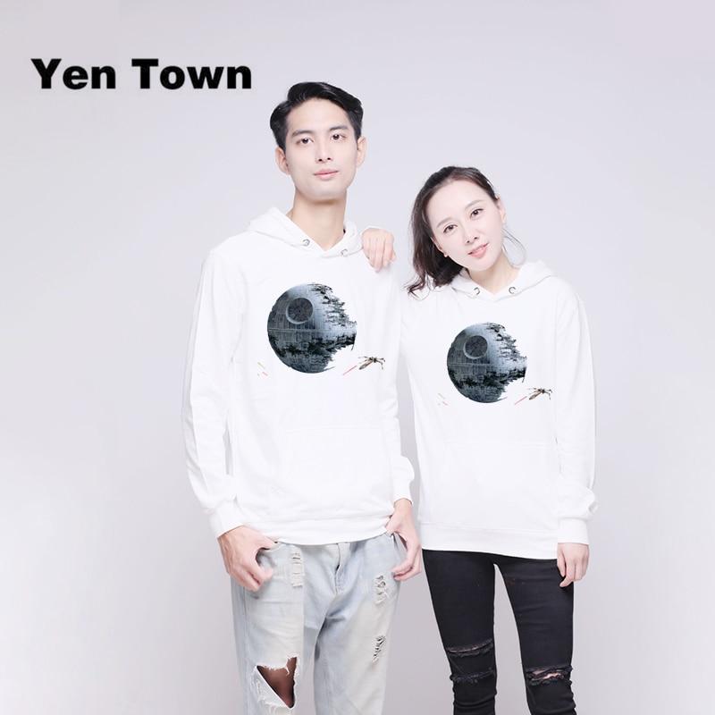 Obedient Yen Town Fashion Death Star Printed Hoodies Long Sleeve Unisex Cartoon Pullover Autumn Winter Sweatshirt Kpop S-6xl Hoodies & Sweatshirts