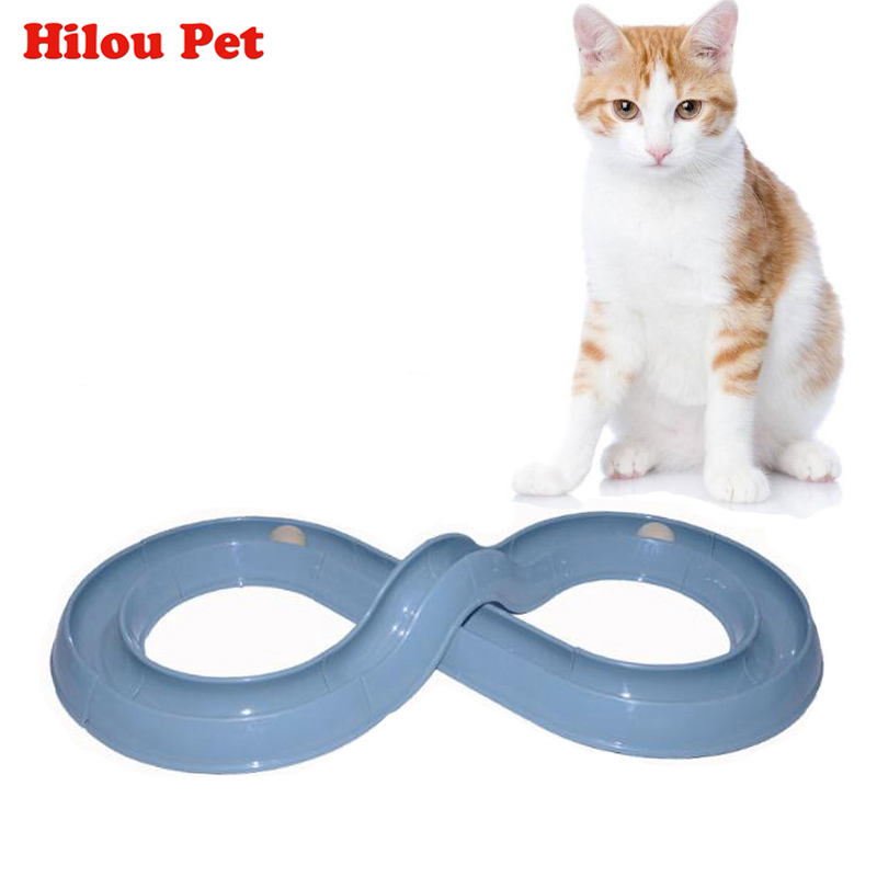 New Cat Toys Funny Puppy Pet Orbital Shaped Toys Intelligence Training Cat Toy Balls Disk Play Activity Game