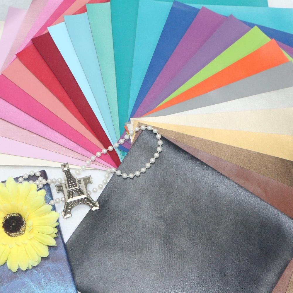 15 piezas - Alta calidad 15 piezas DIY cuero PU / cuero artificial 20x22cm por piezas (40 colores pueden elegir)