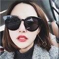 Feishini futuro de moda transparente color corea del sol claro gafas damas de plástico barato de ojo de gato gafas de sol mujer Oval UV400
