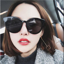 Feishini Future Fashion Transparent Colour Korea Sunglass Clear Oculos Ladies Plastic Cheap Cat eye Sunglasses Women Oval UV400(China)