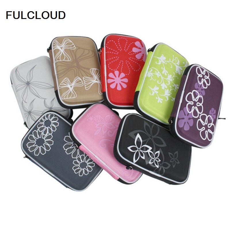 FULCLOU for WD/Seagate/Samsung/Toshiba EVA waterproof shockproof mobile hard disk bag 2.5  digital mobile bag containing bag ...