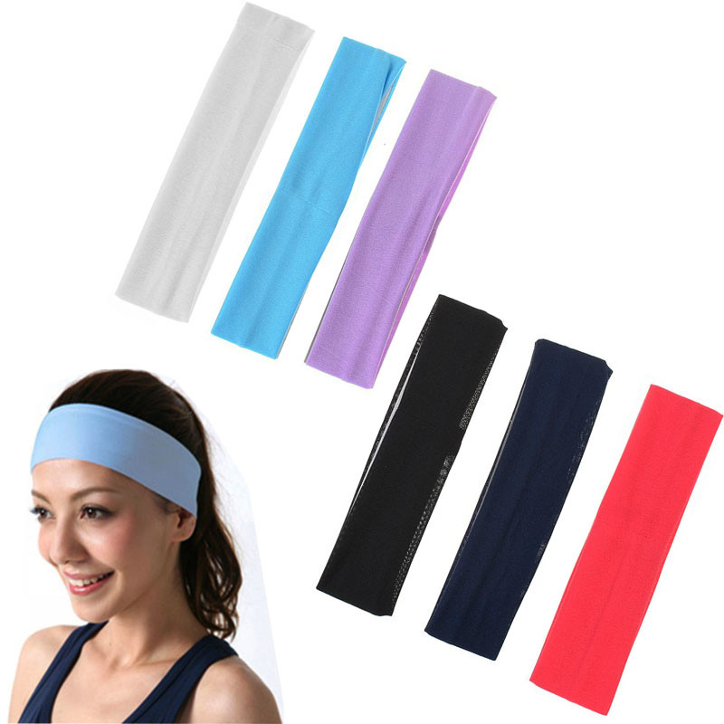 Women Girls Yoga Gym Satin Comfy Sport School Slim Hair Head band Headband hoop