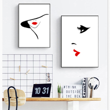 Black White Posters prints Modern home decor Quote fashion woman Canvas painting Pictures on the wall for living room zs629