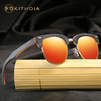 2016 Free Shipping Handmade Natural Wood Sunglasses Men And Women Wooden Polarized Sunglasses 3 Color Unisex