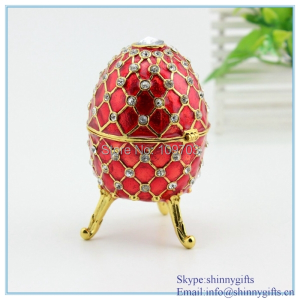 Aliexpress buy red fancy musical egg shaped hinged jewelry red fancy musical egg shaped hinged jewelry gift box trinket decorative design box jewelry negle Images