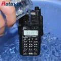 IP67 Waterproof Amateur Radio Retevis RT6 Walkie Talkie 5/3/1W Dual Band VHF UHF136-174/400-520Mhz FM Two Way Portable Radio RU