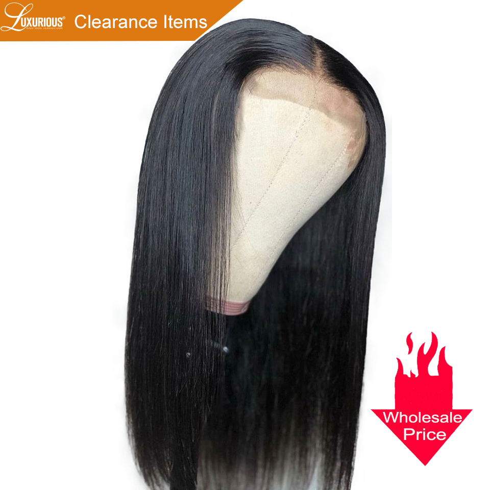 Chearance Wig With Wholesale Price 100 Brazilian Remy Human Hair Wigs With Baby Hair Pre Plucked