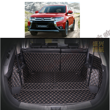free shipping 5d coverage car trunk mat cargo mat for mitsubishi outlander 3rd generation 2015 2016 2017