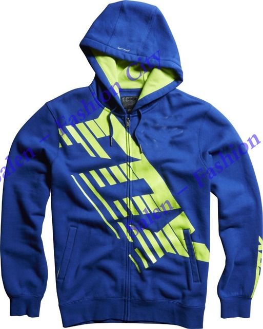 free shipping 2016 NEW RACING A1 SAVANT LE BLUE FLO YELLOW ZIP UP FLEECE HOODIE HOODY MENS MOTO GP Motorbike VR Coat