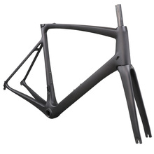 ICAN Aero Full Carbon 700C Road bicycle Frame braze-on front derailleur taper Fork BB86 size 51/54/57/59cm UD matte