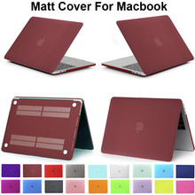 "Untuk Macbook Retina 12 13 15 Inch Warna Matte Case Macbookair 11 13.3 MacBookPro 13 ""15.4 Pro Touch Bar 13.3 ""15.4"" Cover Capa(China)"