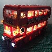 Led Light UP Kit For technic 10258 London Bus Bricks Set fit 21045 Blocks Toys Model Car London buses Lighting Set