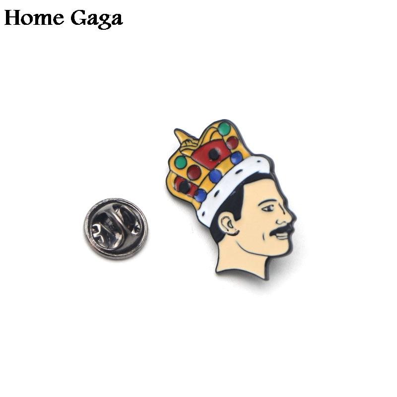 Freddie Mercury Badge QUEEN Badge JEWELS IN CROWN Rock band Pin badge Tie pin
