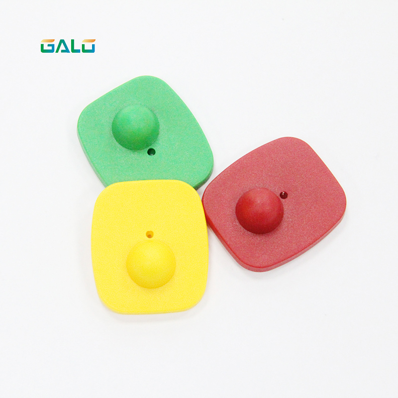 500PCS Special Rate Black Or Customized Color Clothing Security Alarm Eas Hard Tags Mini Square Rf Hard Tag
