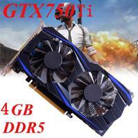 High Quality GTX 750Ti 4GB DDR5 128Bit VGA DVI HDMI Graphics Card For NVIDIA For GeForce