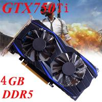 High Quality GTX 750Ti 4GB DDR5 128Bit VGA DVI HDMI Graphics Card For NVIDIA For GeForce
