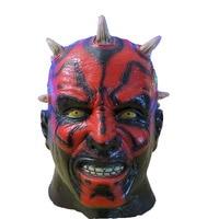 X MERRY Free Shipping !!! Latex Darth Maul Mask Star Wars Costume For Halloween