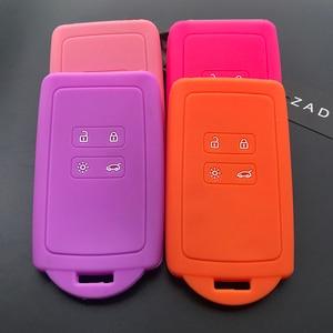 Image 4 - Чехол для автомобильного ключа ZAD, силиконовый резиновый чехол для Renault KOLEOS Kadjar Arkana 2017, для samsung QM5, набор из 4 кнопочных карт, чехол для смарт ключей