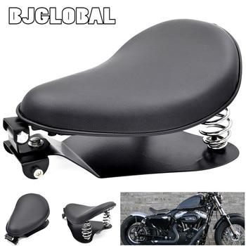 "BJGLOBAL Motorcycle Solo Seat Base Plate 3"" Springs Mounting Bracket Pad Kit For Harley Sportster 883 Bobber Chopper Black"
