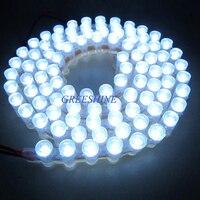 96 Leds/96 CM Silikon Tüp Su Geçirmez Oto LED Işık Şeridi Dip 5 MM Düz Çip Araç Atmosfer LED Seddi şerit 5 M/grup