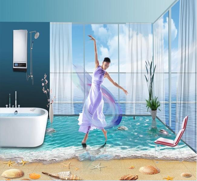 ФОТО 3d pvc flooring custom wallpaper European-style decorative pattern retro rose 3d bathroom flooring 3d wall murals wallpaper
