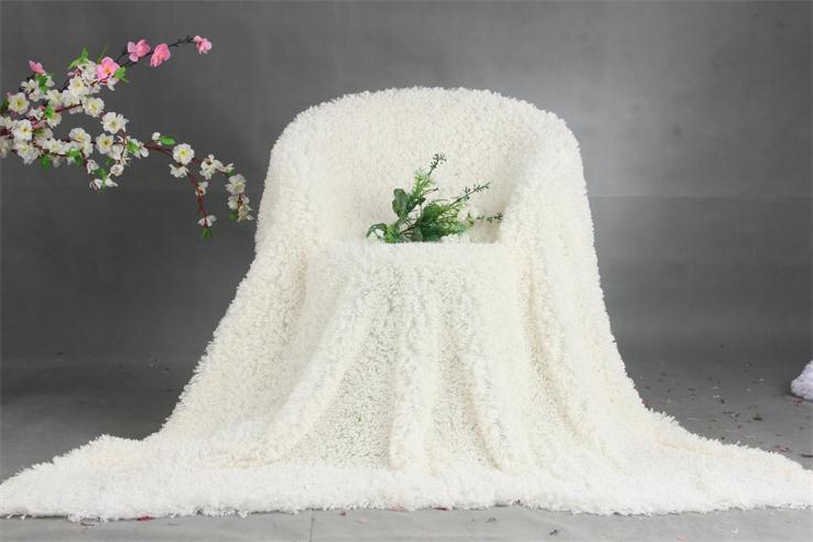 100*160CM Newborn Baby Photography Photo Props Backdrop Blanket Faux Fur Pile fabric Blanket Rug basket stuffer