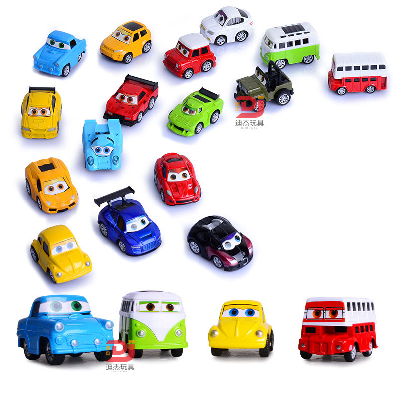 4 PCS/set Mini cartoon Alloy Diecast Pull Back Car Model Toy for boys kid VW beetle bubble car Collection kids gift