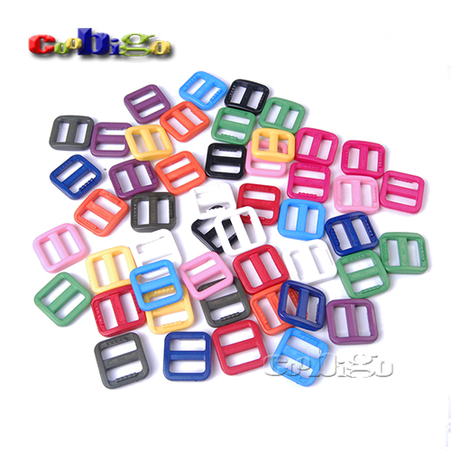 Making Things Convenient For Customers mix-s Dynamic 100pcs 5/8 Mixed Color Slider Tri Glide Adjust Buckles For Dog Collar Harness Backpack Straps Webbing 15mm #flc092-c