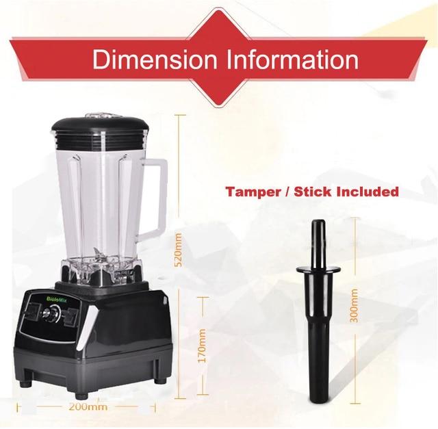 BPA Free 3HP 2200W Heavy Duty Commercial Grade Blender Mixer Juicer High Power Food Processor Ice Smoothie Bar Fruit Blender 6