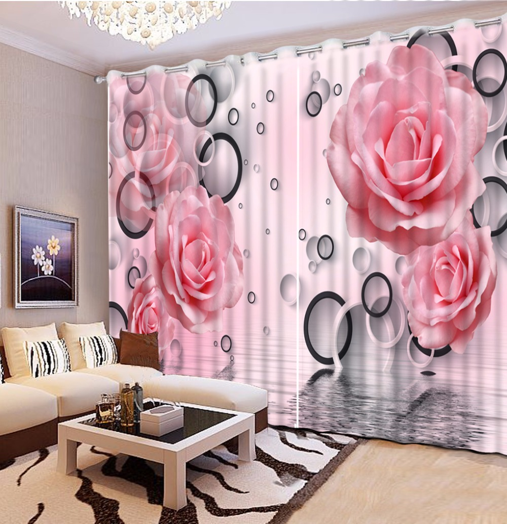 Rose Printing Curtains Living Room Window Curtain Blackout Polyester/Cotton Thick Drapes Fashion Office Hotel Home Cortinas Rose Printing Curtains Living Room Window Curtain Blackout Polyester/Cotton Thick Drapes Fashion Office Hotel Home Cortinas