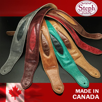 Steph Handmade GT 2210 Soft Pad Genuine Leather Guitar Strap 8 Colors Available