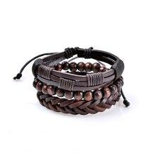 New Arrival Boho Charm Leather Pulseira Bangle Beads Bracelets