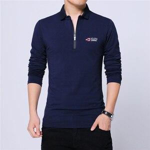 Image 3 - ARCSINX Polo de moda coreana para hombre, Polos ajustados de marca, de talla grande 5XL 4XL 3XL, Polos de manga larga negros para hombre