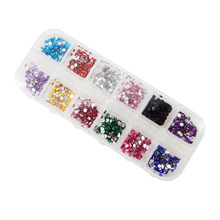 2000pcs in 12color 2.5MM False Rhinestones Decoration with Hard Case for Nail Art Manicure-NT022