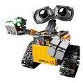 2016 Novo Conjunto De Construção Kits Robot WALLE Lepin 16003 Idéia BlocksBringuedos Tijolos Brinquedos para As Crianças