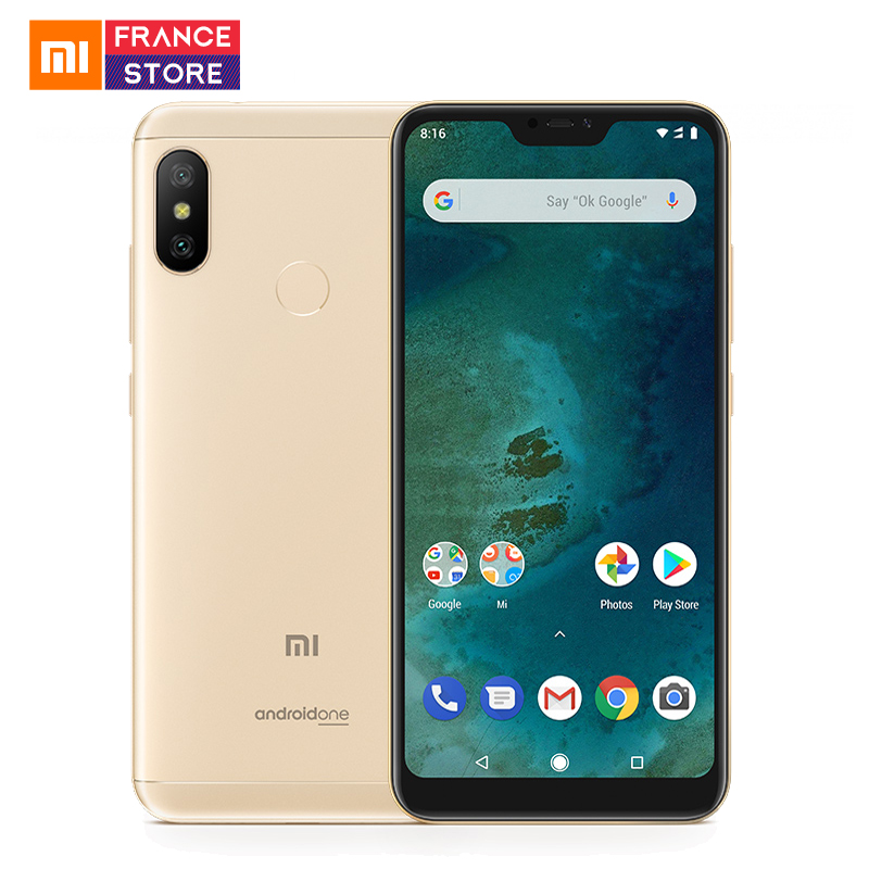 Versão Global Xiao mi mi A2 Lite 3GB Snapdragon 625 12MP 32GB Smartphone 5.84 ''Tela Cheia Dual câmera Android Um CE Telefone