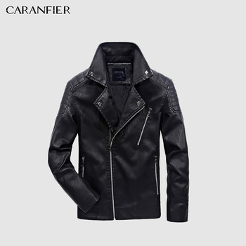 Caranfier mens leather jackets 가을 겨울 코트 남성 faux coats 바이커 오토바이 남성 클래식 자켓 최고 품질 플러스 사이즈 M-5XL
